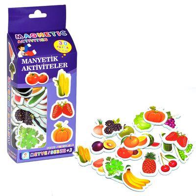 Manyetik Magnet Meyve ve Sebzeler 30 Parça